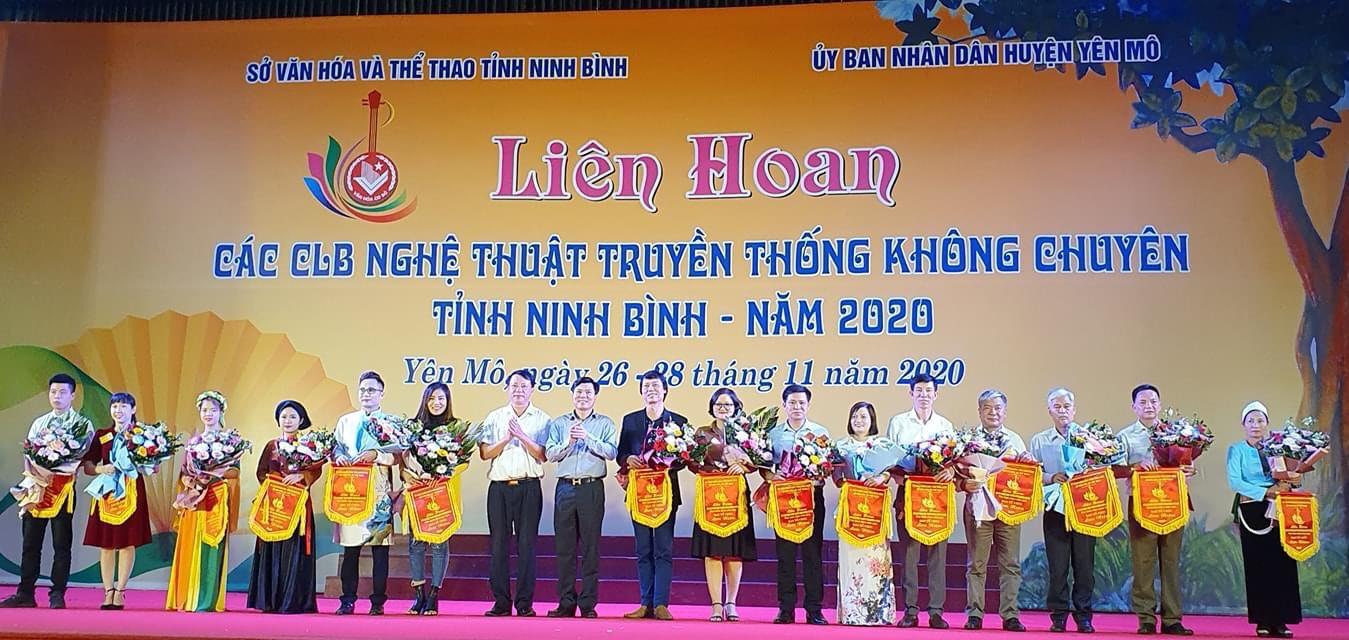 Đoàn nghệ thuật truyền thống thành phố Tam Điệp tham gia Liên hoan các câu lạc bộ nghệ thuật truyền thống không chuyên tỉnh Ninh Bình năm 2020