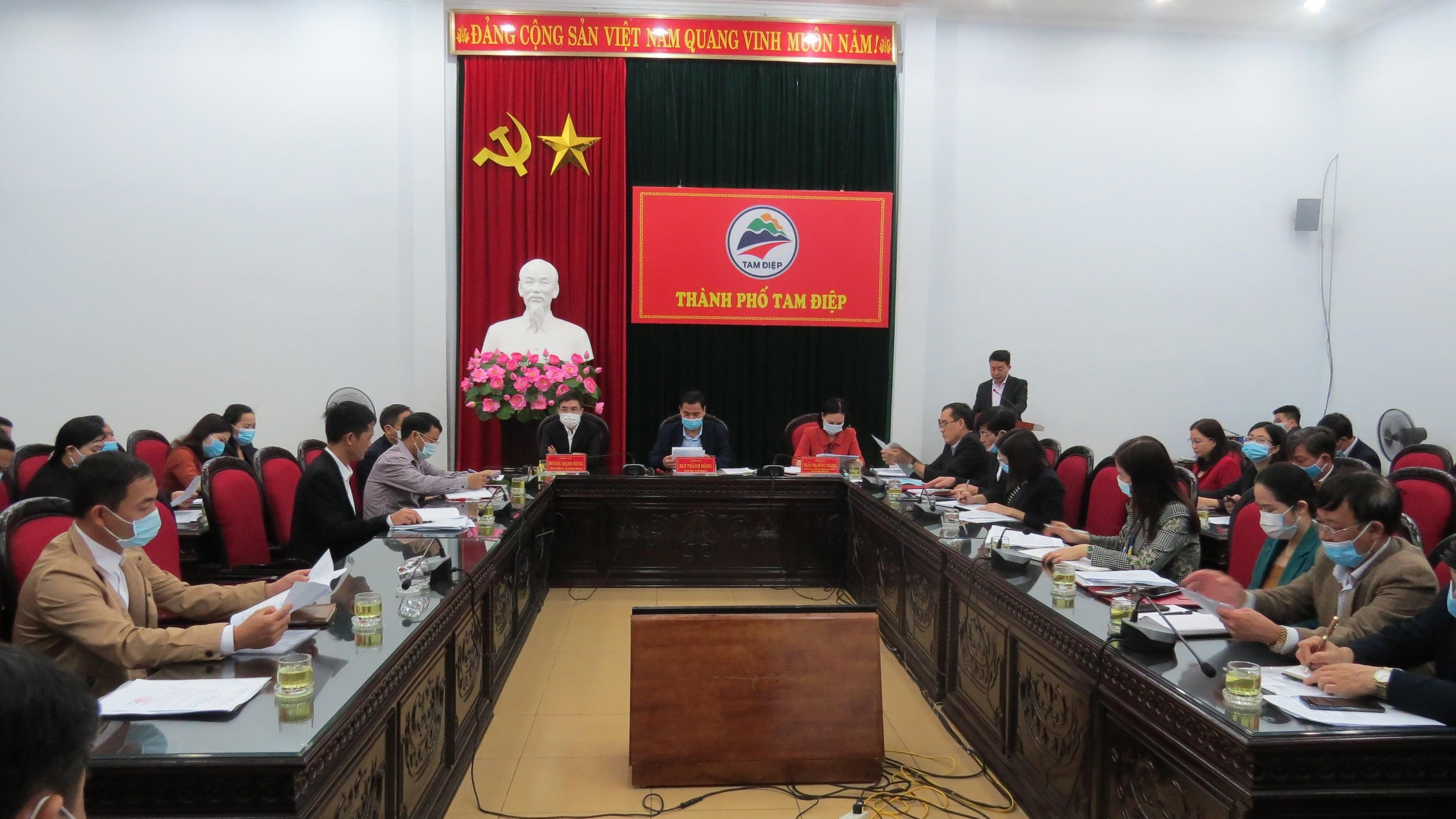 Hội nghị triển khai công tác bầu cử đại biểu HĐND thành phố Tam Điệp nhiệm kỳ 2021 – 2026
