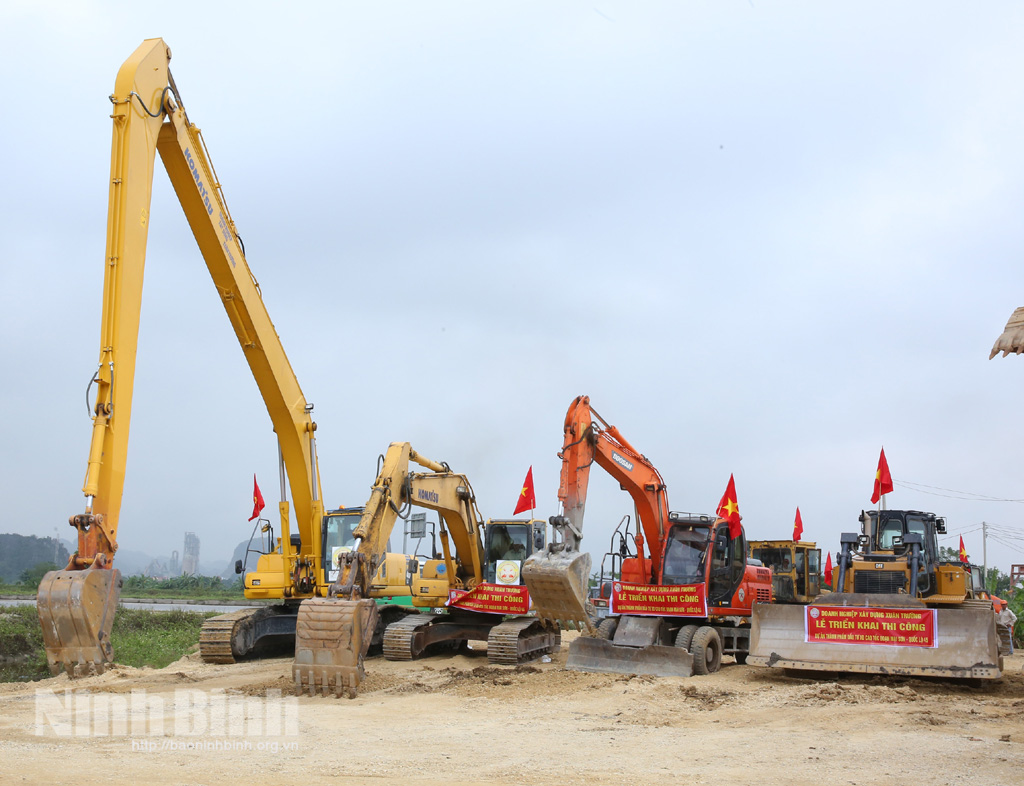Tiến độ công tác  giải phóng mặt bằng phục vụ thi công Dự án đầu tư xây dựng đường bộ cao tốc tuyến Bắc – Nam phía Đông qua địa bàn thành phố Tam Điệp (đến hết ngày 04/3/2021).