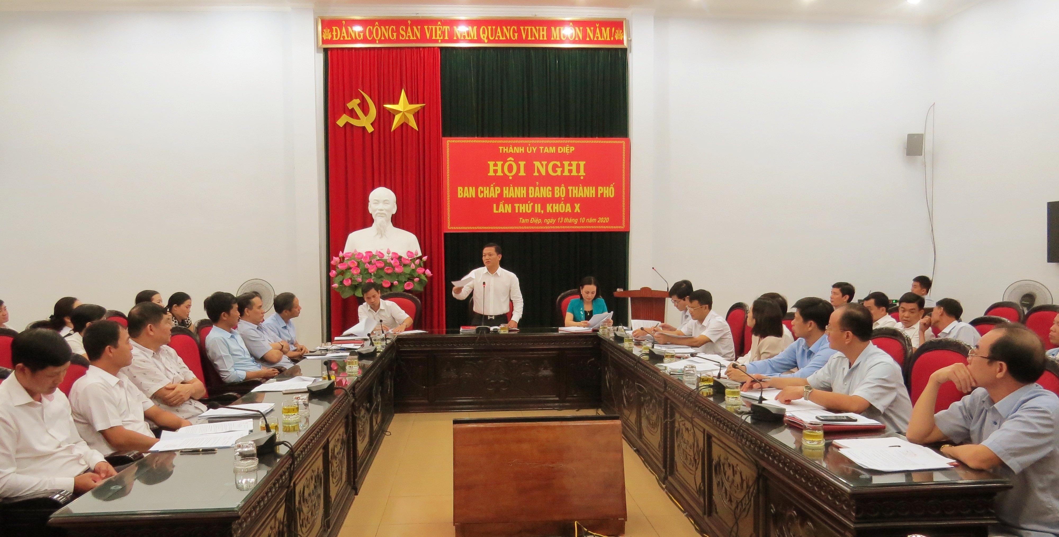 Đảng bộ thành phố tổ chức Hội nghị Ban chấp hành lần thứ II, khóa X, nhiệm kỳ 2020 – 2025.