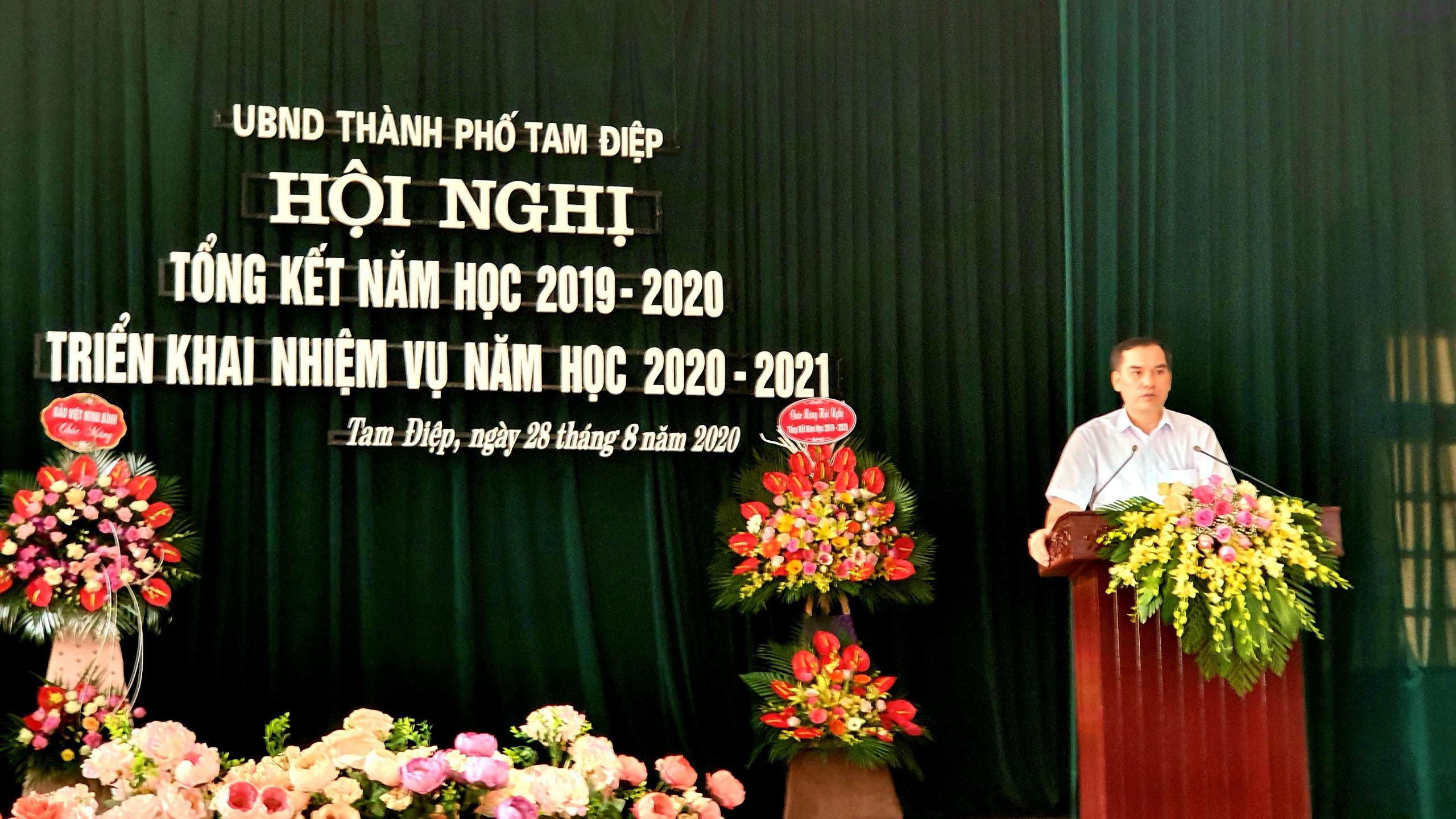 Hội nghị tổng kết năm học 2019 - 2020 và triển khai nhiệm vụ năm học 2020 - 2021
