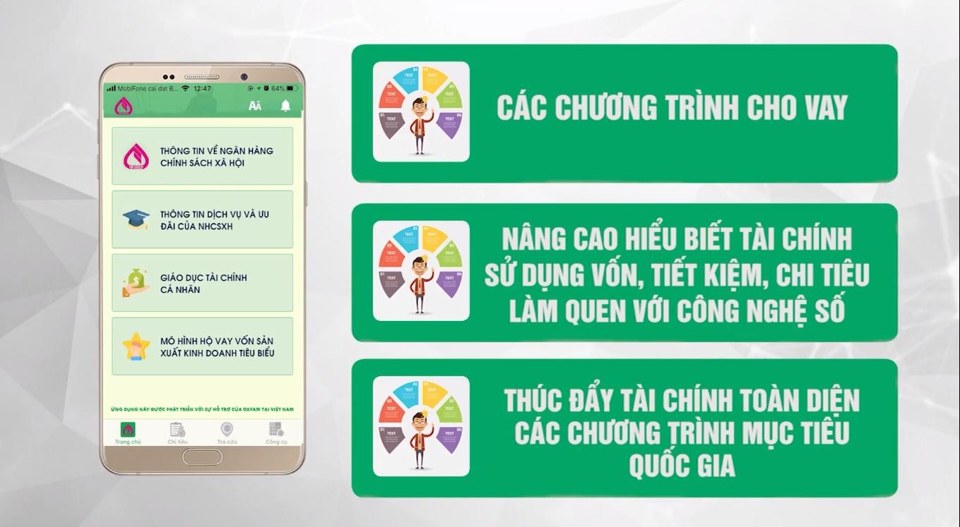 Ngân hàng Chính sách xã hội triển khai ứng dụng giáo dục tài chính trên điện thoại cho khách hàng