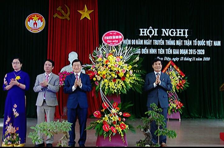Hội nghị Gặp mặt Kỷ niệm 90 năm Ngày truyền thống Mặt trận Tổ quốc Việt Nam và biểu dương điển hình tiên tiến giai đoạn 2015 - 2020